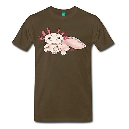 Spreadshirt Herren Axenia Axolotl T-Shirt, edelbraun, 5XL