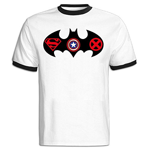 Men 39 S Batman Superman Captain America X Men Logo Baseball