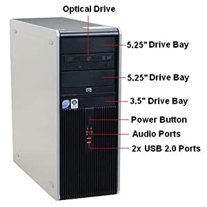 HP DC7800 Tower, ,WIFI, Featuring Intel Core 2 Quad Q9400 2.66GHz Amazing 1333MHz BUS Speed 6MB of Cache, NEW with Warranty 1TB 7200 RPM Seagate HDD 4