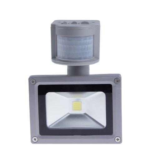 Sunsbell 10W Led Sensor Light Bulbs Home Light Floodlight Landscape Street Light Lamp Ac/110V Warm White Gray Shell