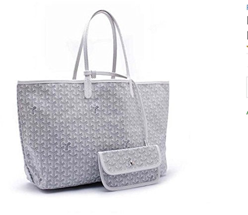 rosvin-lady-shoulder-bag-2-piece-tote-bag-pu-leather-handbag-purse-bags-set-white