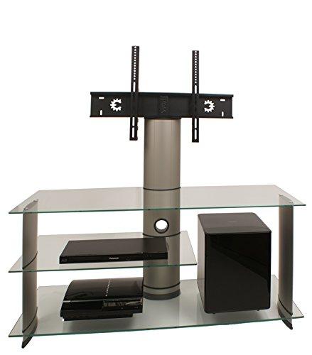 vcm tv rack lowboard konsole fernsehtisch lcd led m bel glastisch tisch schrank aluminium silber. Black Bedroom Furniture Sets. Home Design Ideas