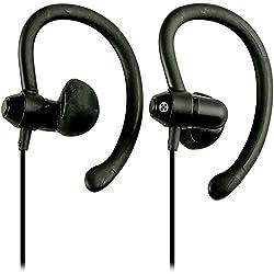 Moki ACCHPS90BK 90-Degree Sports Earphones, Black
