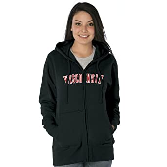 NCAA Wisconsin Badgers Ladies Franchise Redux Cotton Sueded Hooded Sweatshirt by Ouray Sportswear