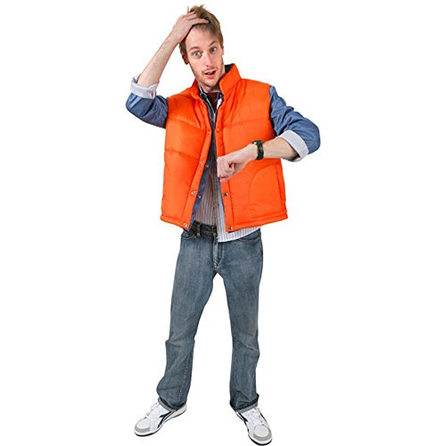 Adult Time Traveler Costume -Denim Shirt with attached vest