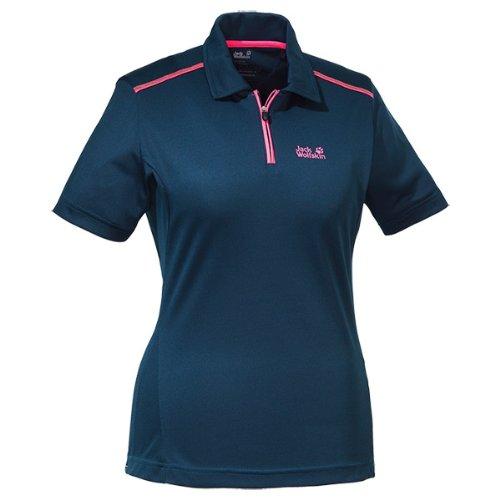 Jack Wolfskin Damen Shirt Coolmax Polo Women, Night Blue, XXL, 1802451-1010006
