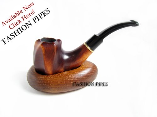 Fashion Set - PIPE & STAND, Wooden Tobacco Smoking Pipe of Pear and Wooden Stand, Designed for Pipe Smokers. The BEST PRICE OFFER IN FPS