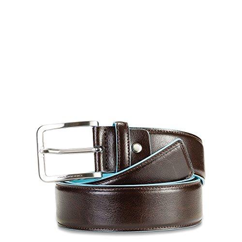 Cintura uomo 40mm con fibbia quadrata colore mogano, linea Blue Square