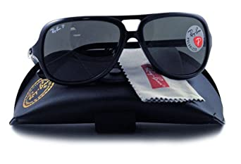 Ray-Ban Sunglasses Rb4162 601/58 Black Crystal Green Polarized