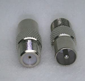 RF Coaxial Adapter Connector IEC DVB-T TV PAL MALE TO F female