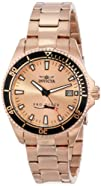 Invicta Women's 15137SYB Pro Diver Rose Gold Dial 18k Ion-Plated Stainless Steel Watch with Impact…