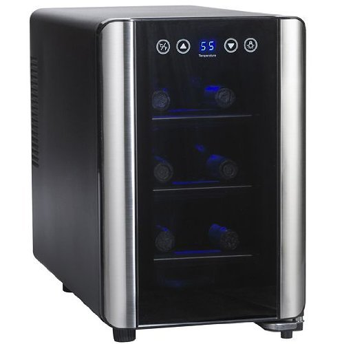 Wine Enthusiast 6 Bottle Touchscreen Wine Cooler