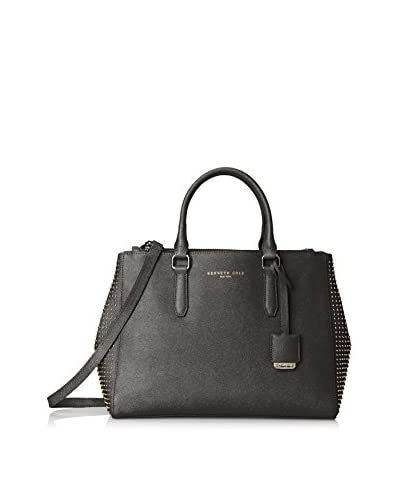 Kenneth Cole New York Women's Caton Street Studded Saffiano Satchel, Black
