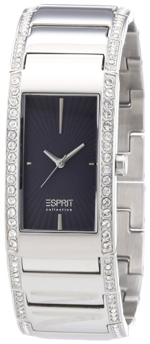 Esprit EL102002F02 - Reloj analógico de cuarzo para mujer con correa de acero inoxidable, color plateado