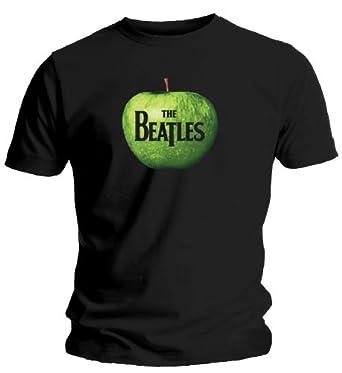 Bravado Apple Logo,T-Shirt The Beatles, Größe M, Schwarz