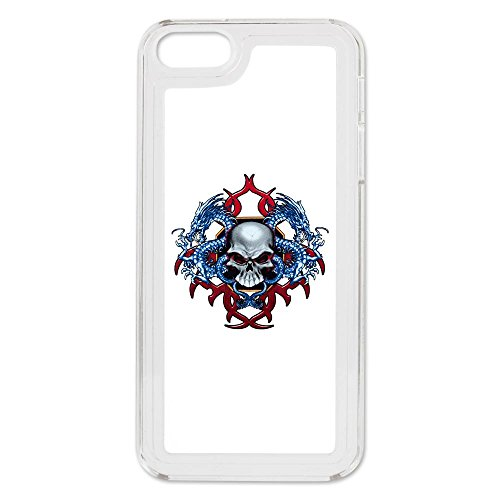 Iphone 5 Switch Case Clear Skull With Dragons