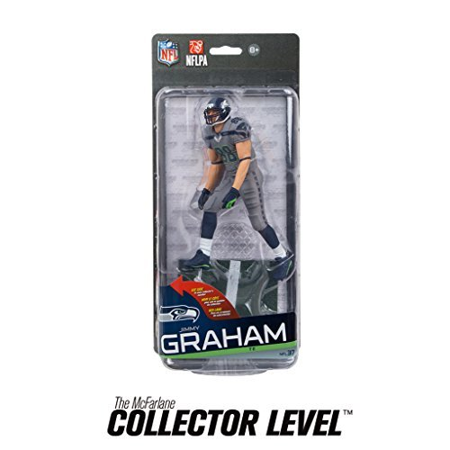 McFarlane Toys NFL Seattle Seahawks Sports Picks Series 37 Jimmy Graham Action Figure [Grey Uniform] by NFL