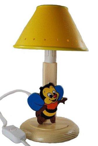 Tischlampe Lampe Stehlampe Tischleuchte Kinder Kinderzimmer Holz Biene 24cm hoch Nachttischlampe