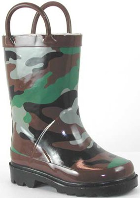 Child's Green Camo Waterproor Rubber Rain Boots - Buy Child's Green Camo Waterproor Rubber Rain Boots - Purchase Child's Green Camo Waterproor Rubber Rain Boots (Western Chief, Apparel, Departments, Shoes, Children's Shoes, Boys)