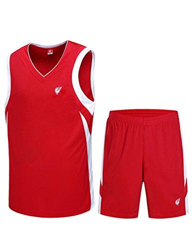WenVen Men's Tank Top Sportswear Basketball Jersey and Shorts