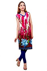 Kurti Studio Festive Pink Unstitched Cotton Kurti Dress Material