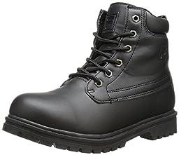 Fila Edgewate 12 Hiking Shoe (Little Kid/Big Kid), Black/Black, 12 M US Little Kid