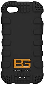 Bear Grylls Action Case with Screen Guard, Applicator and Cloth for iPhone 5 - Jet Black