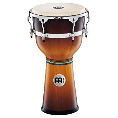 Meinl Percussion 12-Inch Floatune Series Wood Djembe, Gold Amber Sunburst