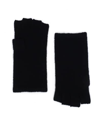 Sofia Cashmere Women's Fingerless Gloves, Black, One Size As You See