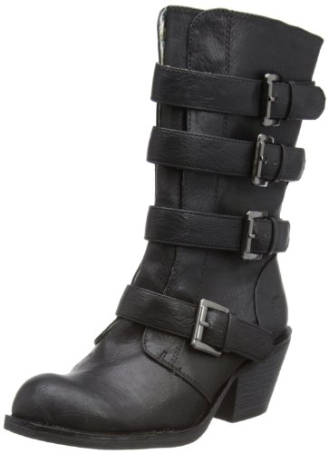 Rocket Dog Womens Rollin Cowboy Boots In Black