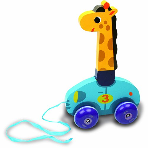 Vilac Melusine's Push and Pull Baby Toy, Leonie The Giraffe - 1