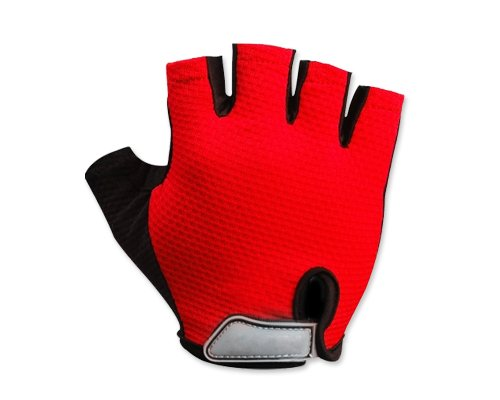Pair of Outdoor Sports Women Men Red Fingerless Gloves Ultra-breathable Skating Climbing Motorcycle Shockproof Mountain Reflex Cycling MTB Racing Bicycle Bike Anti-slip Half Finger Short Gloves with Velcro Strap - Medium scoyco motorcycle riding knee protector extreme sports knee pads bycle cycling bike racing tactal skate protective ear