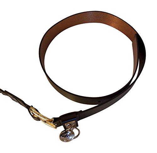 Michael Kors Classic Roller Logo with Hamilton Lock Brown Belt (Large)