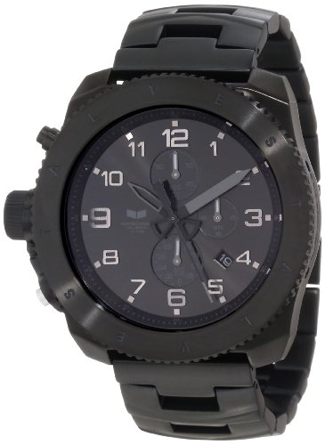 Vestal Men's RES006 Restrictor Black Sunray Chronograph Watch