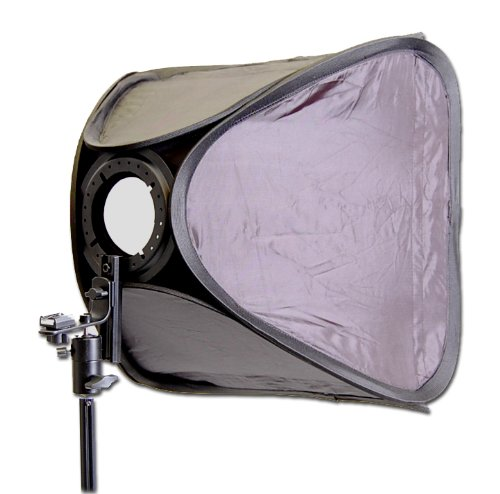 CowboyStudio Photo / Video 24in Large Speedlite Flash Softbox with L-Bracket, Shoe Mount and Carry Case