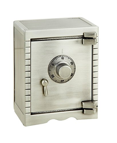 Elegance Pewter Finish Safety Deposit Money Bank - 1