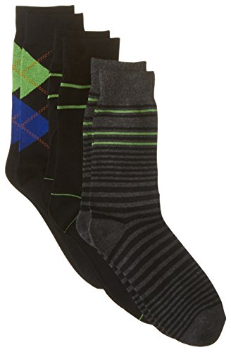 ben-sherman-mens-3-pack-albert-pattern-socks-green-9-12