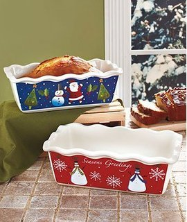 Set of 6 Colorful Small Holiday Loaf Pans