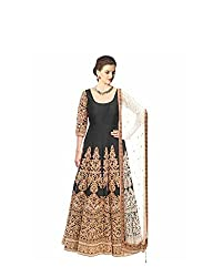 vaankosh fashion women black cotton designer bollywood style Dress Materials /partywear Dress Materials/heavy embroidered Dress Materials