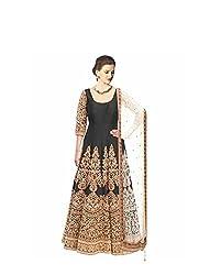 vaankosh fashion women black cotton designer bollywood style Dress Materials /partywear Dress Materials/heavy embroidered Dress Materials