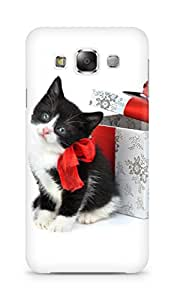 Amez designer printed 3d premium high quality back case cover for Samsung Galaxy E5 (Christmas Cat 2)