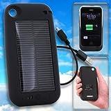 【iPhone3G/3GS専用】ソーラーハイブリッド充電ケース solar charge jacket-i(ブラック)【ギフトショー春2010出品商品】
