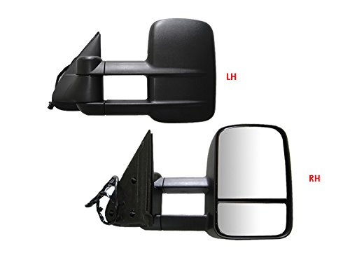 ECCPP Left Side Mirror Power Adjustment Heated Manual Folding with Cover Compatible with 2011-2012 Toyota Sienna
