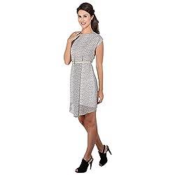 Asymmetrical Pleated A line Dress (X-Large)