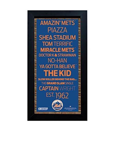 Steiner Sports Memorabilia Framed New York Mets Desktop/Wall Hangable Subway Sign Wall Art
