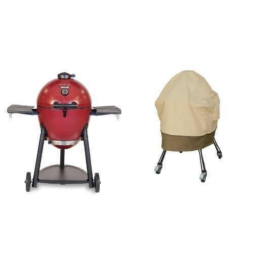 Char-Griller 06620 Akorn Kamado Kooker Charcoal Barbecue Grill and Smoker, Red with Classic Accessories Cover (Insulated Cover For Smoker compare prices)