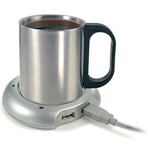 LEORX Portable USB Heated Cup Mug Warmer Heater Pad (Usb Cup Heater compare prices)