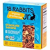 18 Rabbits Jr. Organic Gluten Free Granola Bars, Chocolate Banana 6.3 - Ounce Box (Pack of 2)