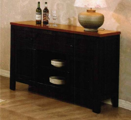 Cheap Server Sideboard with Cherry Top in Espresso Finish (VF_AM14324)