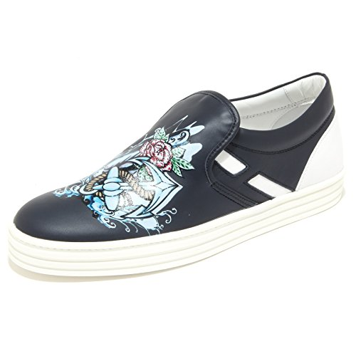 0390N slip on HOGAN REBEL scarpe uomo sneaker shoes men blu [6]